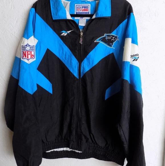 90s Carolina Panthers Reebox Proline NFL Jacket. M 5a7f321236b9dee72ec6f9b1 4d2c2c7ad